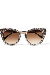Thierry Lasry Snobby Cat Eye Acetate And Rose Gold Tone Sunglasses Pink