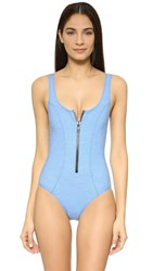 Lisa Marie Fernandez Jasmine Denim Maillot Faded Denim