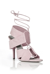 Alexander Wang Suede Laced Front Sandals