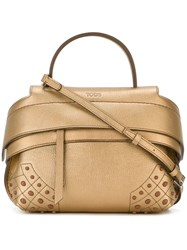Tod's Mini 'Wave' Bag Metallic