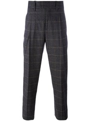 Neil Barrett Prince Of Wales Check Trousers Black