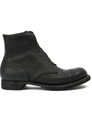 Guidi Ankle Combat Boots Black