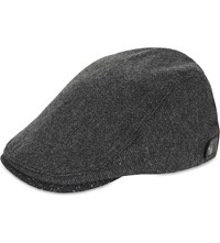 Ted Baker Chipper Twill Flat Cap Charcoal