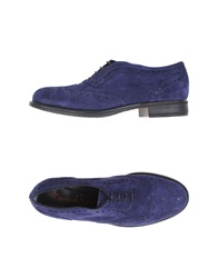 Emanuela Passeri Lace Up Shoes Dark Purple