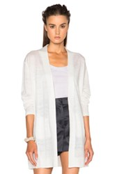 Acne Studios Paulin Linen Cardigan In White