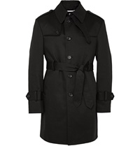 Cotton Twill Trench Coat Black