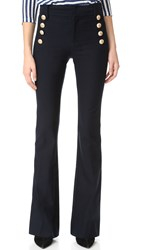 Derek Lam Flare Trousers With Sailor Buttons Midnight