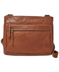 Fossil Large Leather Corey Crossbody Brown