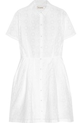 Chinti And Parker Broderie Anglaise Cotton Mini Dress