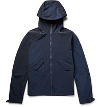 Paul Smith Waterproof Shell Hooded Jacket Blue