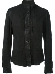 Lost And Found Ria Dunn Button Down High Neck 'Chemical' Biker Jacket Black