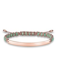 Thomas Sabo Green Macrame Love Bridge Bracelet