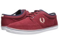 Fred Perry Stratford Suede Maroon Natural Men's Shoes Pink