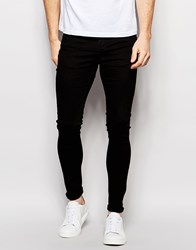 Selected Homme Super Skinny Fit Jeans With Stretch Black