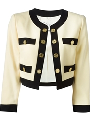 Moschino Vintage Golden Coins Skirt Suit Nude And Neutrals