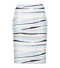 Boss Womenswear Abstract Stripe Skirt Female Blue