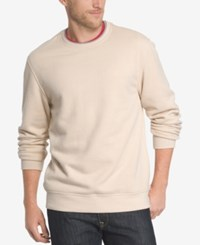 Izod Men's Saltwater Fleece Crew Neck Sweatshirt Rock Heather