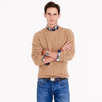 J.Crew Tall Italian Cashmere Cable Sweater