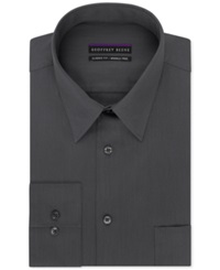 Geoffrey Beene Non Iron Bedford Cord Solid Dress Shirt Granite