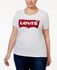 Levi's Plus Size Graphic Logo T Shirt White