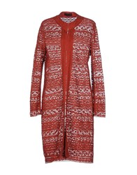 Jo No Fui Coats And Jackets Full Length Jackets Women Brick Red