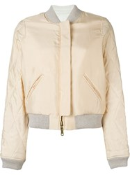 Chloe Reversible Quilted Bomber Jacket Pink And Purple