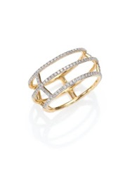 Phillips House Apogee Diamond And 14K Yellow Gold Cage Ring