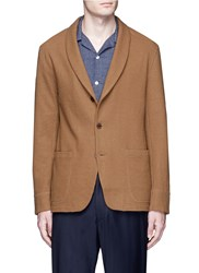 Camoshita Brushed Wool Jersey Soft Blazer Brown