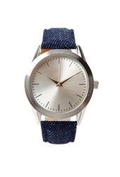 Forever 21 Denim Analog Watch Blue