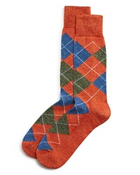 Bloomingdale's The Men's Store At Genova Argyle Socks Rust