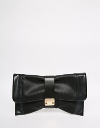 Lipsy Folover Clutch Bag With Fastening Detail In Black Black