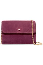A.P.C. Atelier De Production Et De Creation Erwin Nubuck Shoulder Bag Burgundy