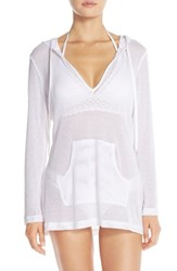 Lablanca Women's La Blanca Mesh Cover Up Hoodie White