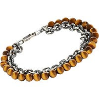 Suzanne Felsen Men's Double Strand Bracelet Brown