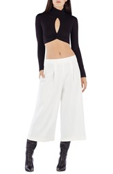 Bcbgmaxazria 'Natalian' Turtleneck Crop Top Black