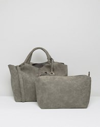 Oasis Tassel Detail Tote Bag Grey