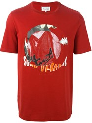 Maison Martin Margiela Abstract Print T Shirt Red