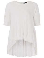 French Connection Celia Scallop Jumper Summer White