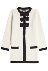 Boutique Moschino Cardigan With Virgin Wool And Cotton White