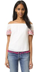 Christophe Sauvat Collection Sammy Print Clean Front Top Off White Multi