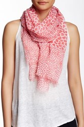 Lava Giraffe Semi Sheer Scarf Red