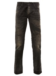 Mastercraft Union Ripped Tapered Jeans Black