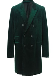 Haider Ackermann Corduroy Double Breasted Coat Green