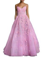 Zuhair Murad Sweetheart Neck Gown Light Pink