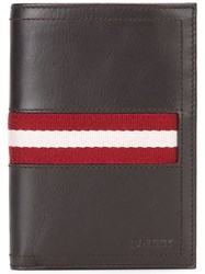 Bally Striped Wallet Brown