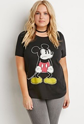 Forever 21 Mickey Mouse Graphic Tee Black Multi
