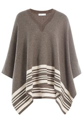 Vince Wool Cashmere Cape Brown