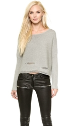 Ramy Brook Willow Cropped Sweater Heather Grey
