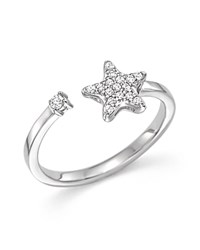 Bloomingdale's Diamond Star Ring In 14K White Gold .10 Ct. T.W.