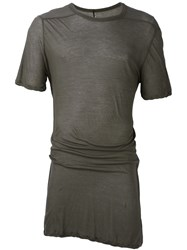 Rick Owens Twisted Edge T Shirt Grey